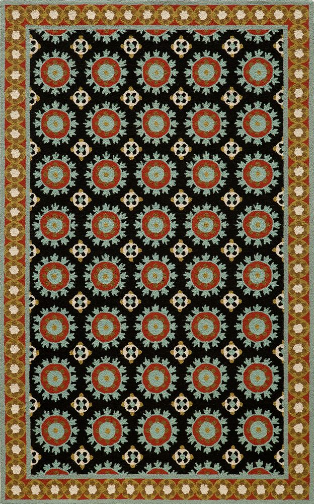 Transitional Suzhkszi-3 Area Rug - Suzani Hook Collection
